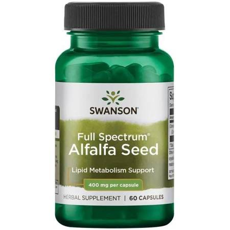 Swanson Lucerna (Alfalfa) 400 mg 60 kapsułek