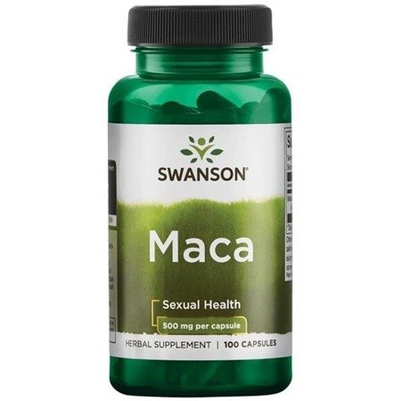 Swanson Maca (Lepidium meyenii) 500 mg 100 kapsułek
