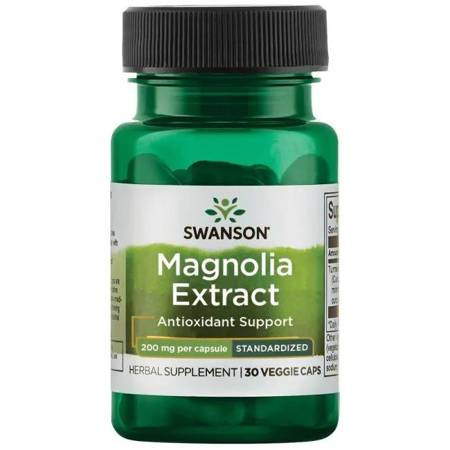 Swanson Magnolia Lekarska 200 mg Extract 30 kapsułek