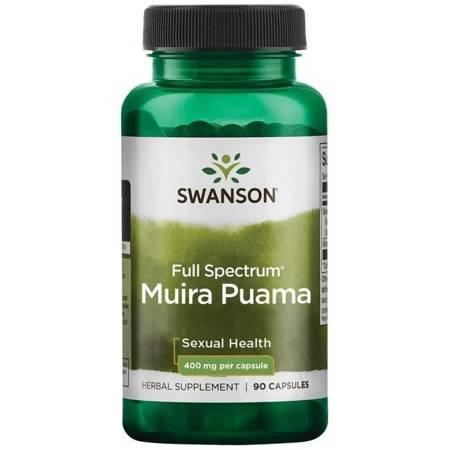 Swanson Muira Puama Root 400 mg 90 kapsułek