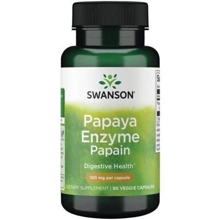 Swanson Papaina (Enzym Papai) 100 mg 90 kapsułek