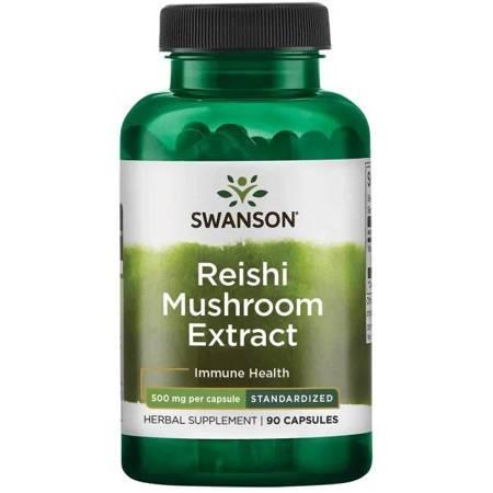 Swanson Reishi Mushroom Extract 500 mg 90 kapsułek