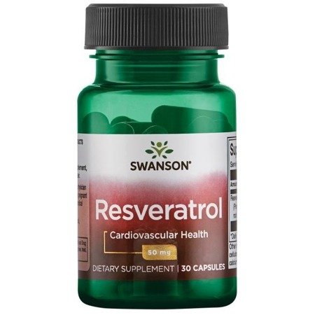 Swanson Resweratrol 50 mg 30 kapsułek
