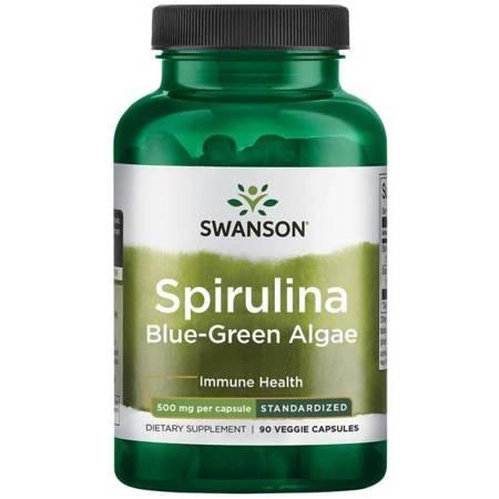 Swanson Spirulina Standaryzowana 500 mg 90 kapsułek