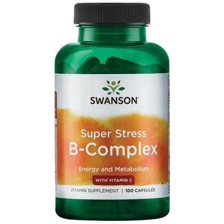 Swanson Super Stress B Complex z Witaminą C 100 kapsułek