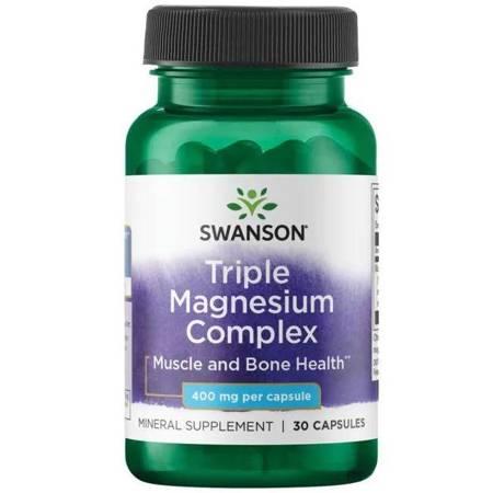 Swanson Triple Magnesium Complex 400 mg 30 kapsułek