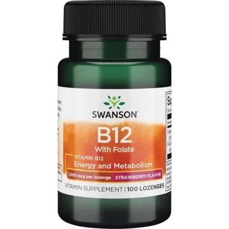 Swanson Witamina B12 1000 mcg 100 tabletek do ssania