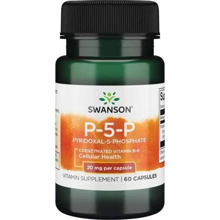 Swanson Witamina B6 P-5-P 20 mg 60 kapsułek