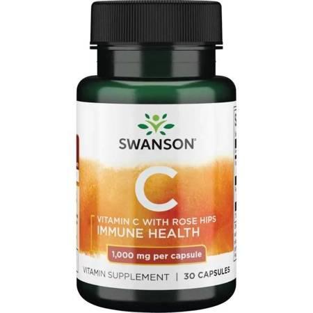 Swanson Witamina C 1000 mg z Dziką Różą 30 kapsułek