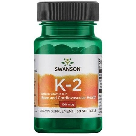 Swanson Witamina K2 MK7 100 mcg 30 kapsułek