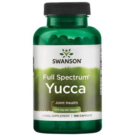 Swanson Yucca 500 mg 100 kapsułek